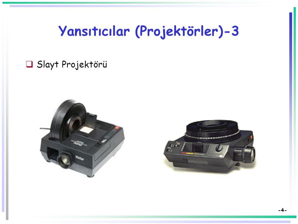 Yansıtıcılar (Projektörler)-3