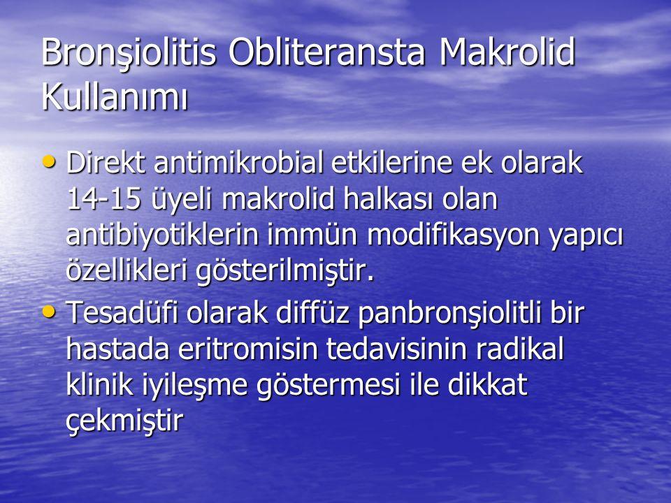 Bronşiolitis Obliteransta Makrolid Kullanımı