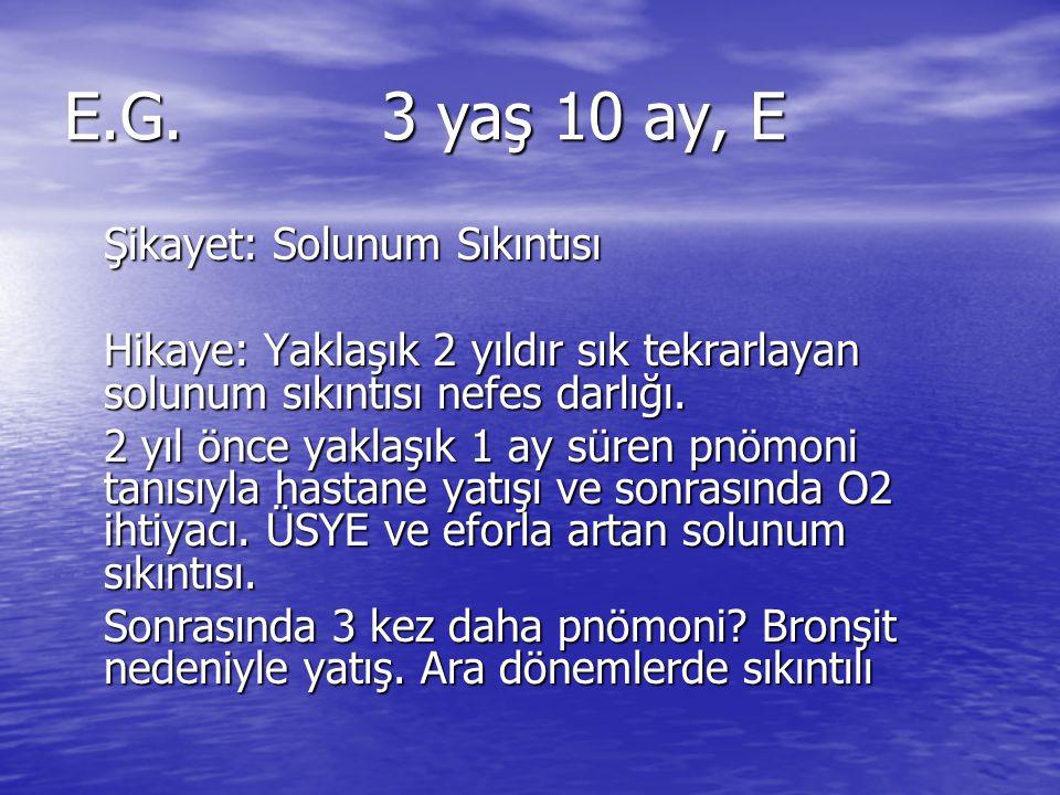 E.G. 3 yaş 10 ay, E