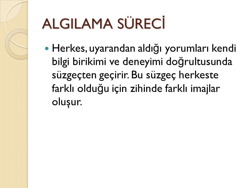 ALGILAMA SÜRECİ