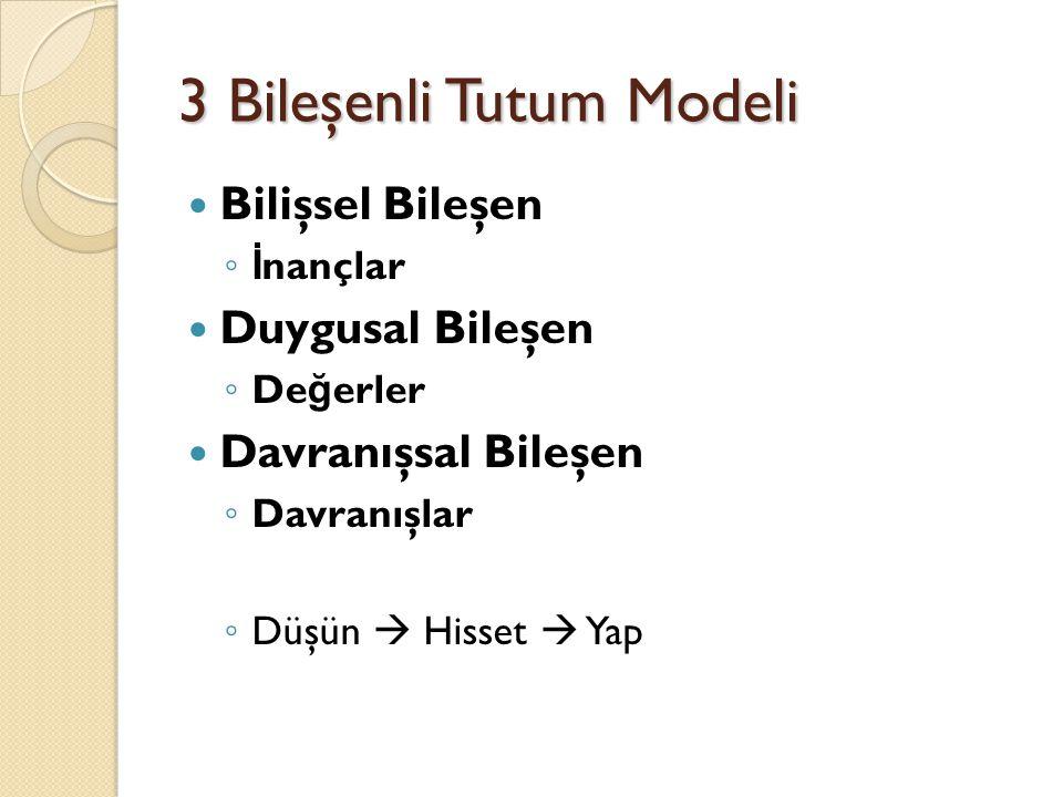 3 Bileşenli Tutum Modeli