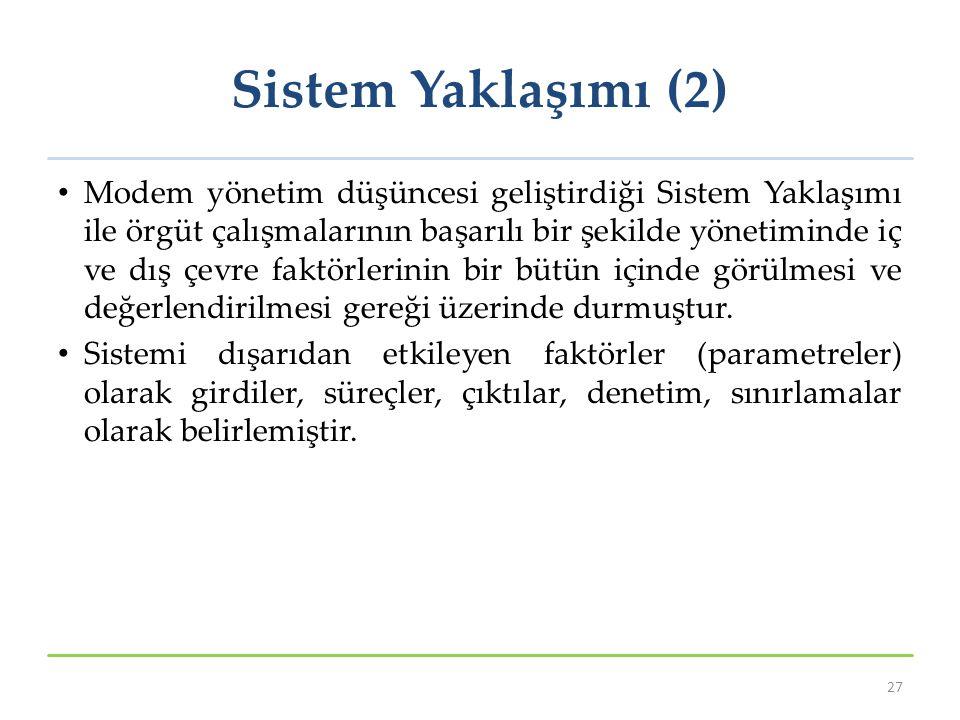Sistem Yaklaşımı (2)