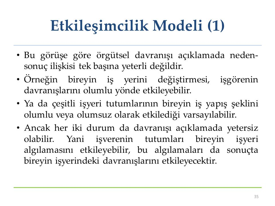 Etkileşimcilik Modeli (1)