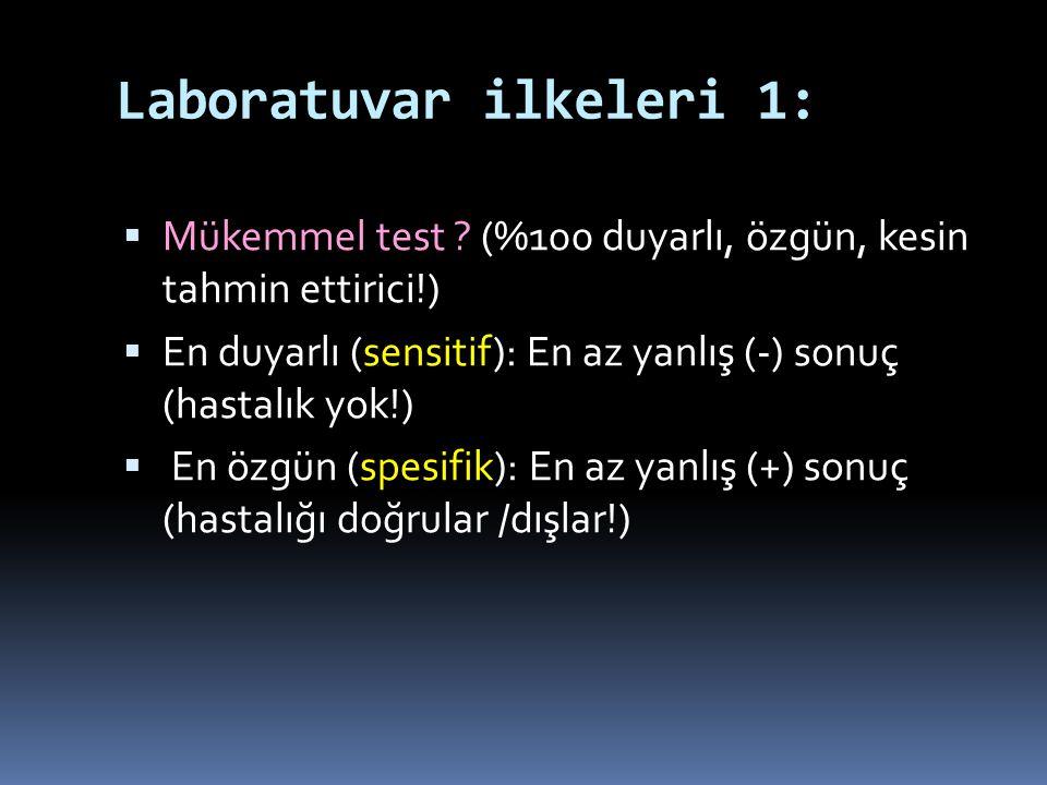Laboratuvar ilkeleri 1: