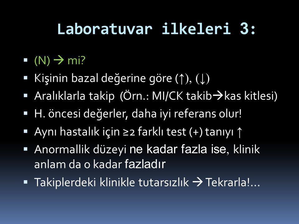 Laboratuvar ilkeleri 3: