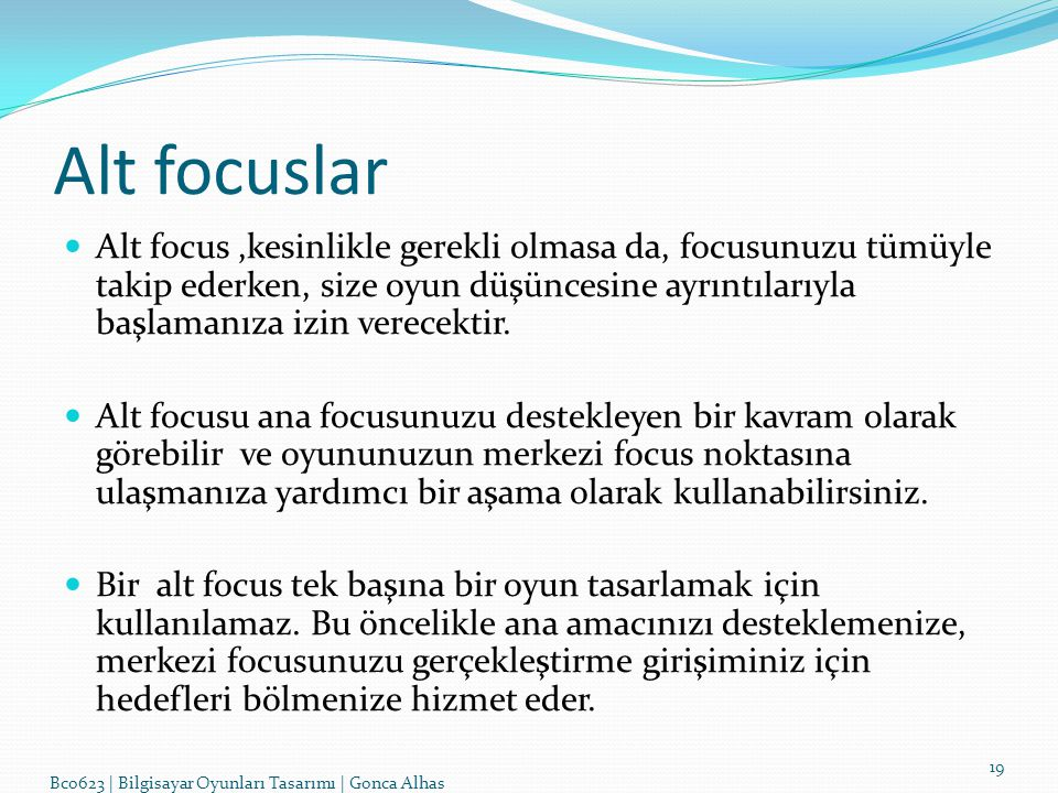 Alt focuslar