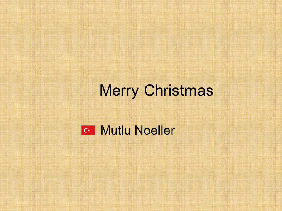 Merry Christmas Mutlu Noeller