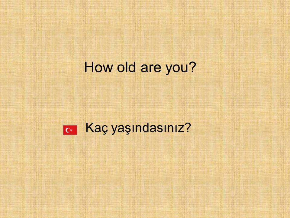 How old are you Kaç yaşındasınız