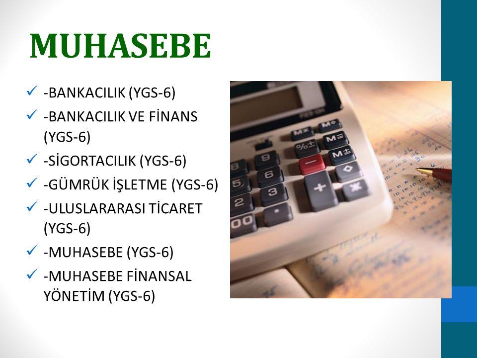 MUHASEBE -BANKACILIK (YGS-6) -BANKACILIK VE FİNANS (YGS-6)