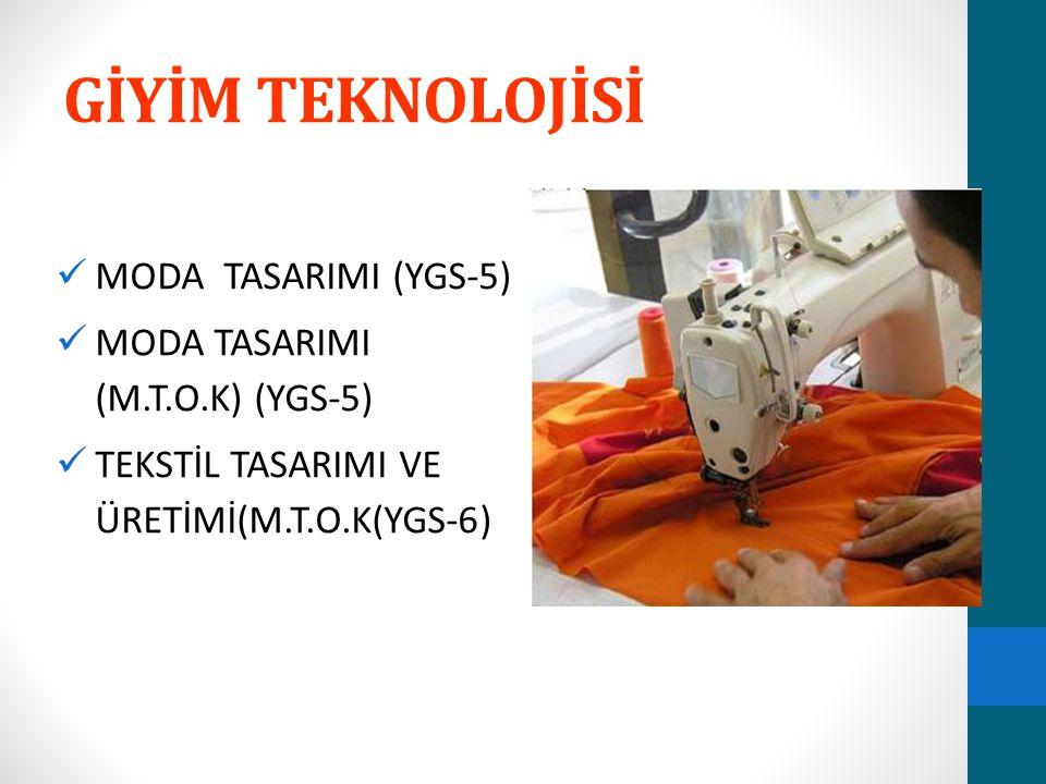 GİYİM TEKNOLOJİSİ MODA TASARIMI (YGS-5)