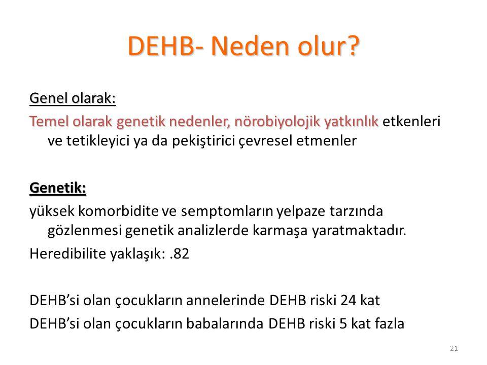DEHB- Neden olur Genel olarak: