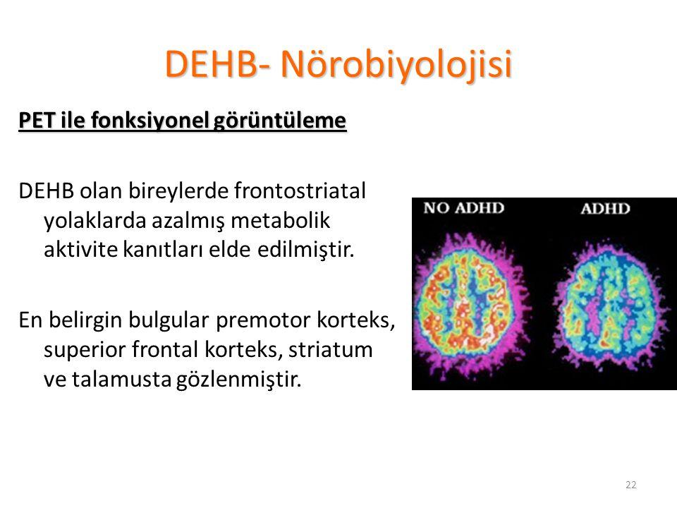 DEHB- Nörobiyolojisi PET ile fonksiyonel görüntüleme
