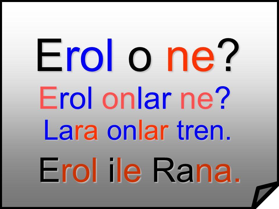 Erol o ne Erol onlar ne Lara onlar tren. Erol ile Rana.
