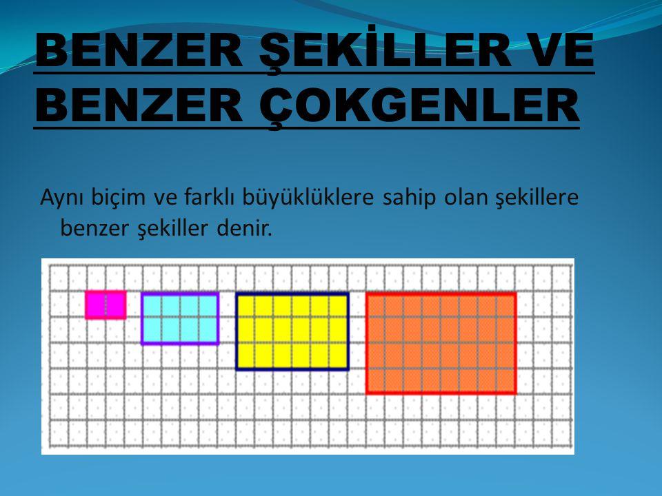 BENZER ŞEKİLLER VE BENZER ÇOKGENLER