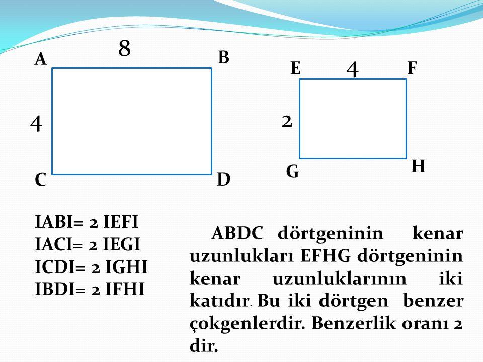 8 4 4 2 A B E F H G C D IABI= 2 IEFI IACI= 2 IEGI ICDI= 2 IGHI