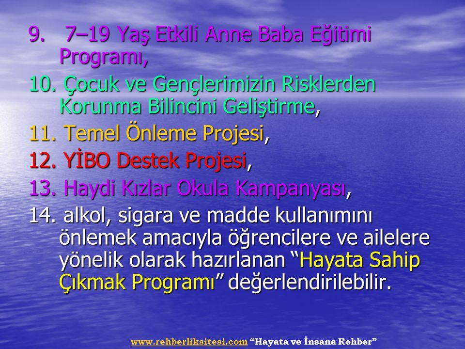 9. 7–19 Yaş Etkili Anne Baba Eğitimi Programı,
