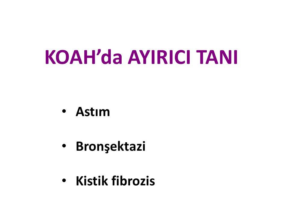 KOAH'da AYIRICI TANI Astım Bronşektazi Kistik fibrozis