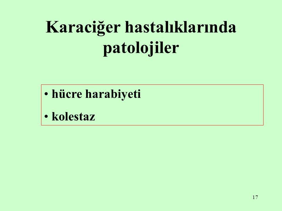 Karaciğer hastalıklarında patolojiler