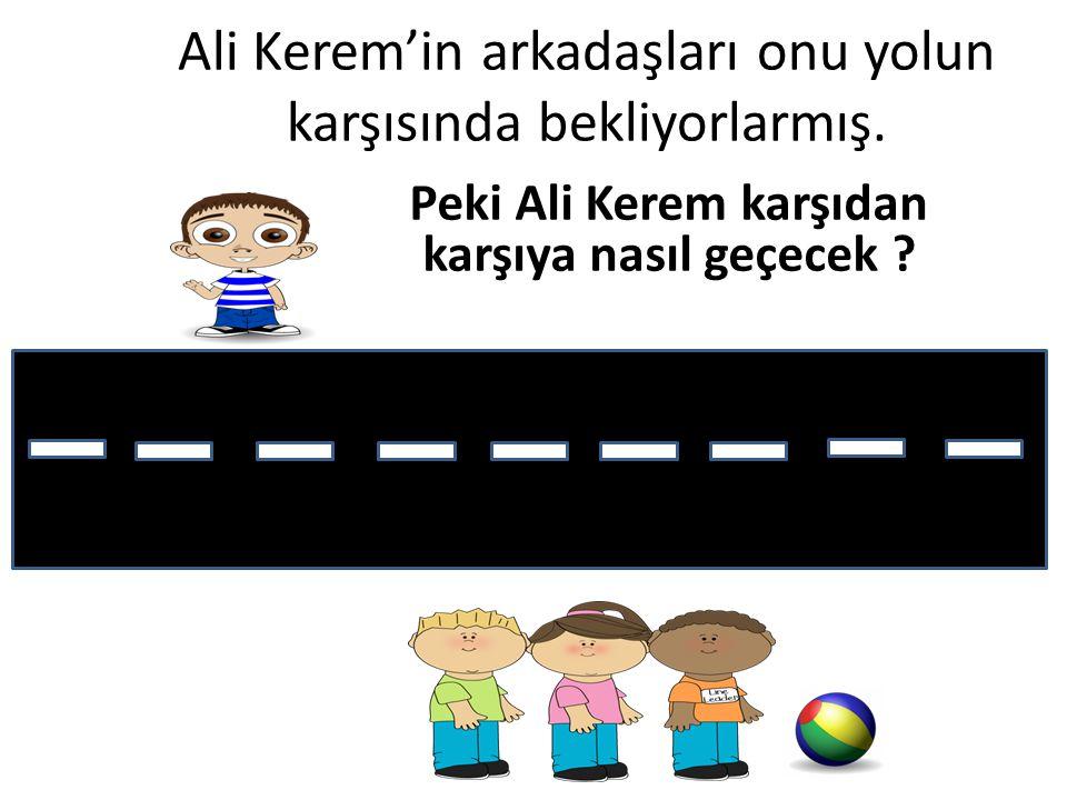 Ali Kerem'in arkadaşları onu yolun karşısında bekliyorlarmış.