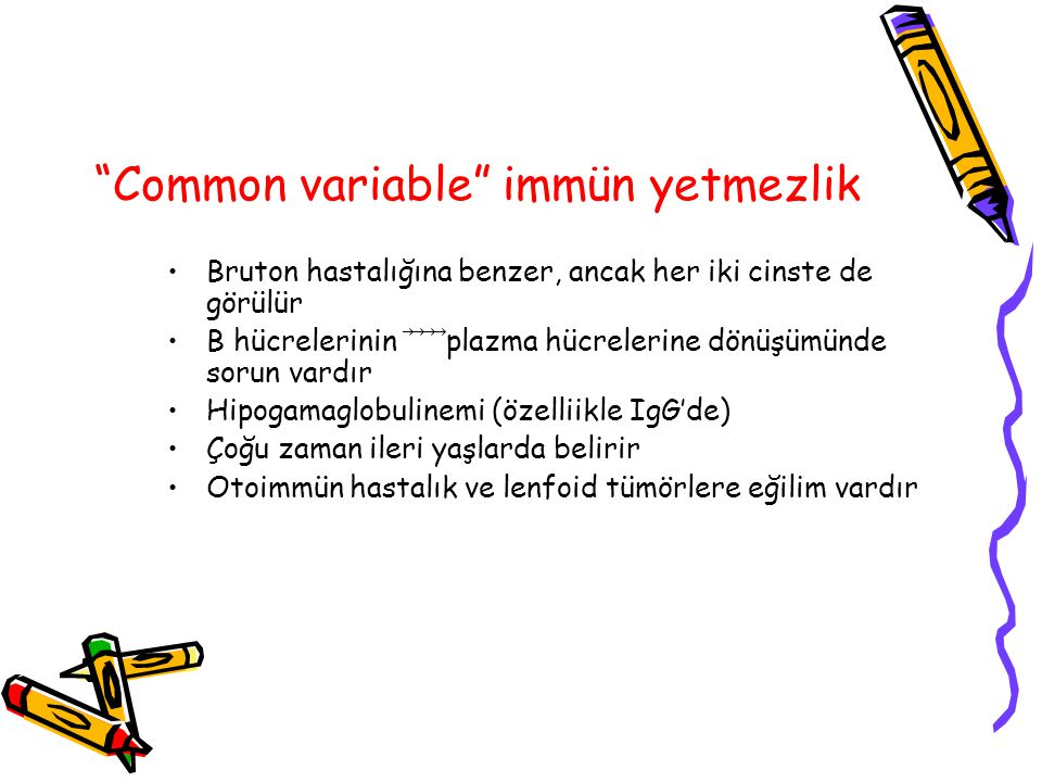 Common variable immün yetmezlik