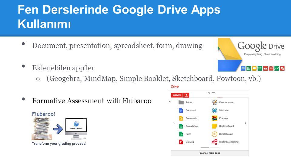 Fen Derslerinde Google Drive Apps Kullanımı