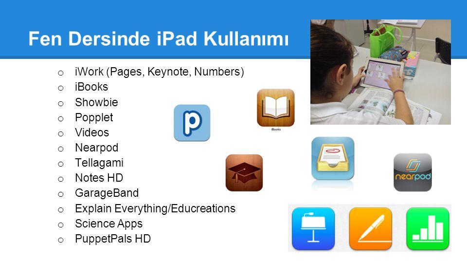 Fen Dersinde iPad Kullanımı