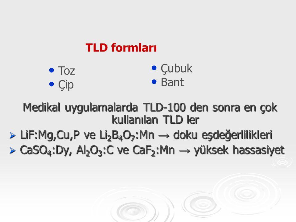 Medikal uygulamalarda TLD-100 den sonra en çok kullanılan TLD ler
