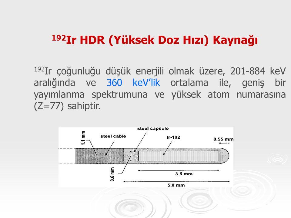 192Ir HDR (Yüksek Doz Hızı) Kaynağı