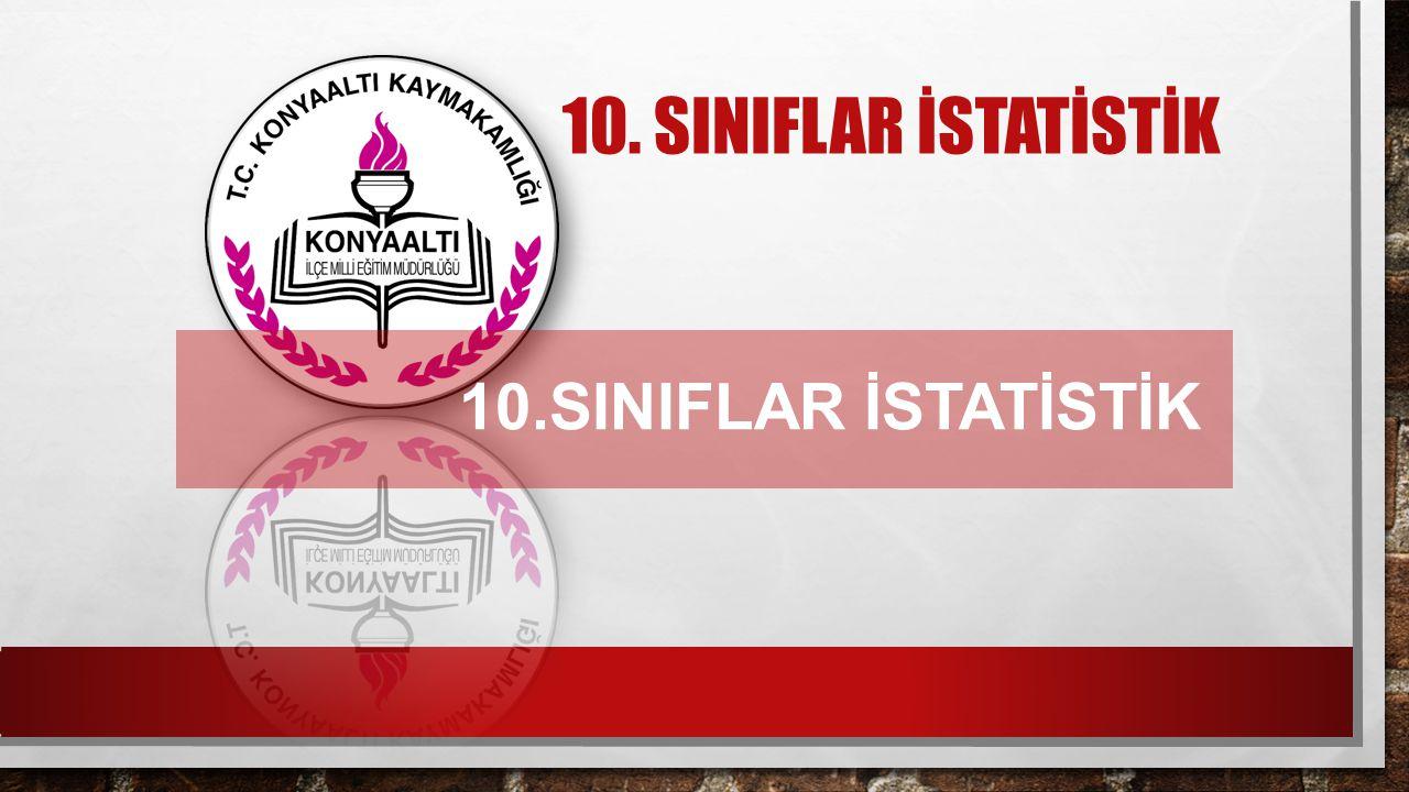 10. SINIFLAR İSTATİSTİK 10.SINIFLAR İSTATİSTİK