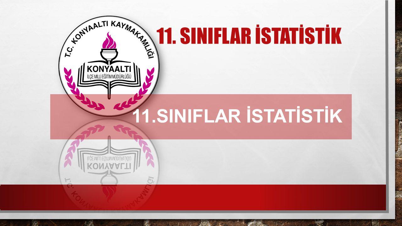 11. SINIFLAR İSTATİSTİK 11.SINIFLAR İSTATİSTİK