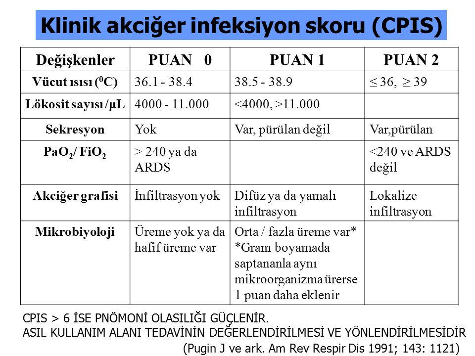 Klinik akciğer infeksiyon skoru (CPIS)