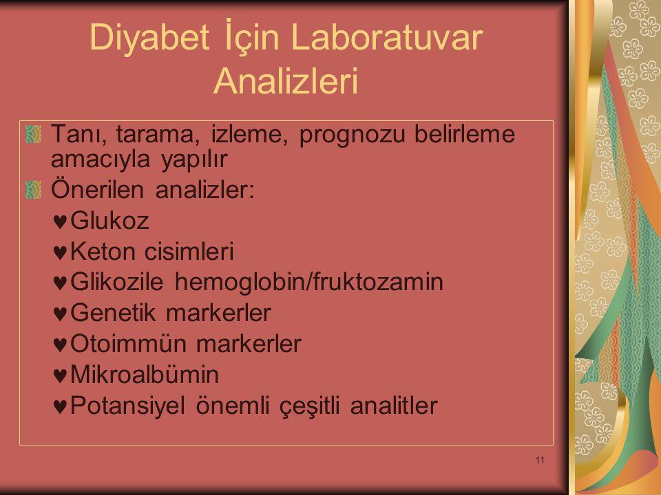 Diyabet İçin Laboratuvar Analizleri