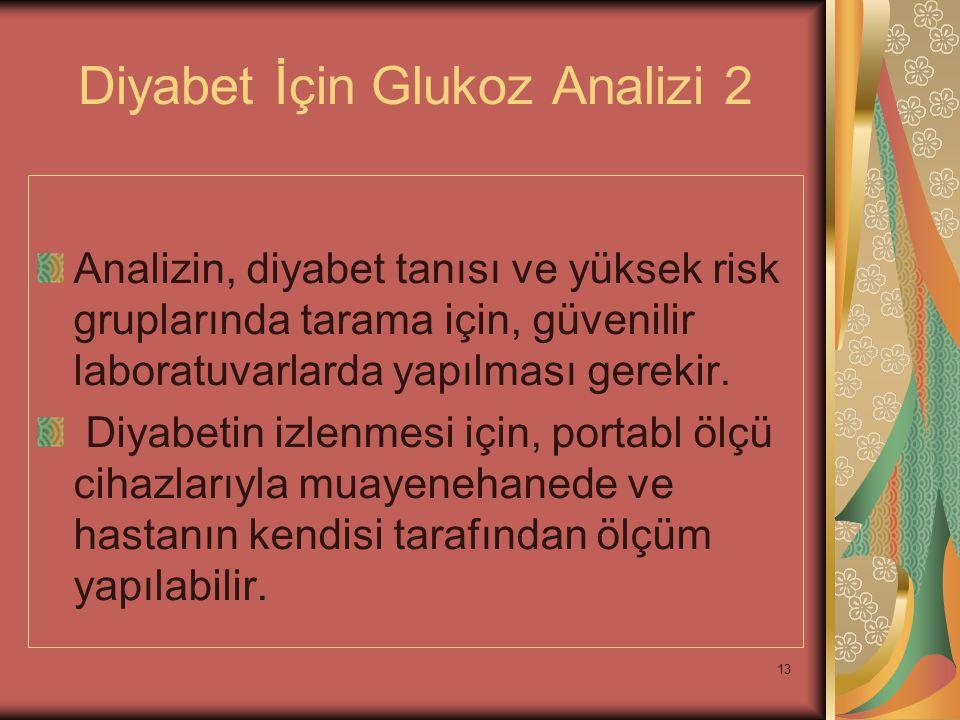 Diyabet İçin Glukoz Analizi 2