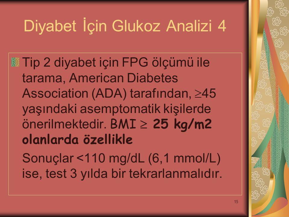 Diyabet İçin Glukoz Analizi 4