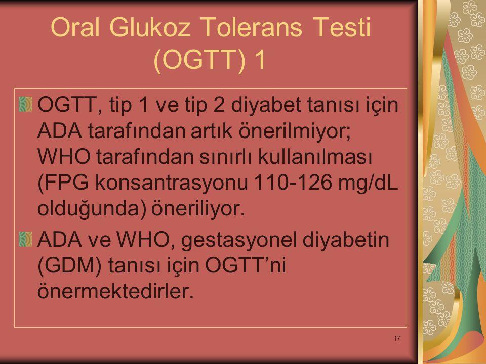 Oral Glukoz Tolerans Testi (OGTT) 1