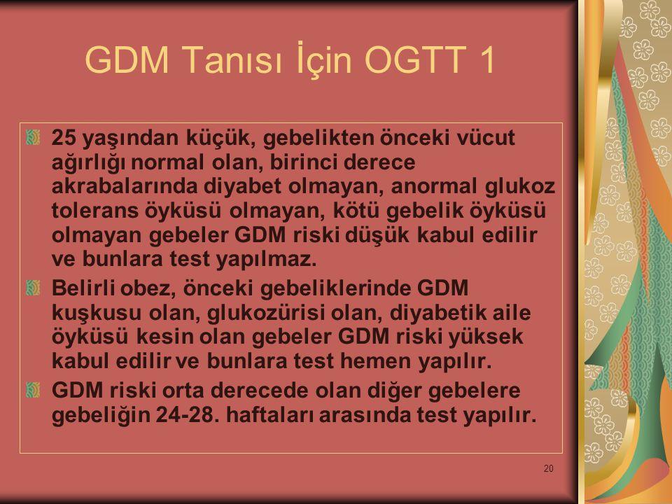 GDM Tanısı İçin OGTT 1