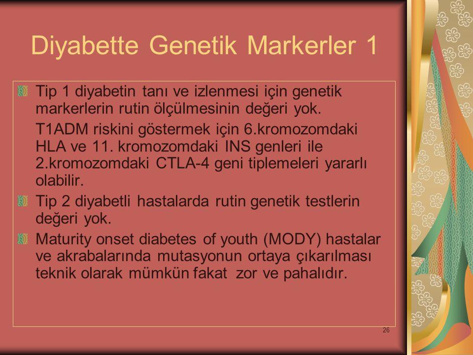 Diyabette Genetik Markerler 1