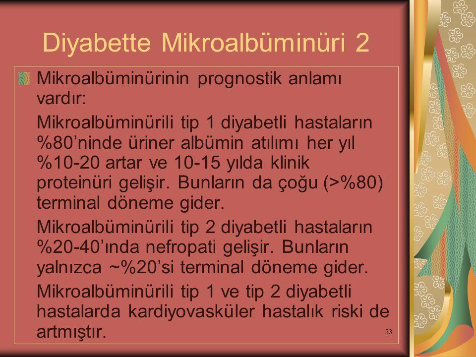 Diyabette Mikroalbüminüri 2