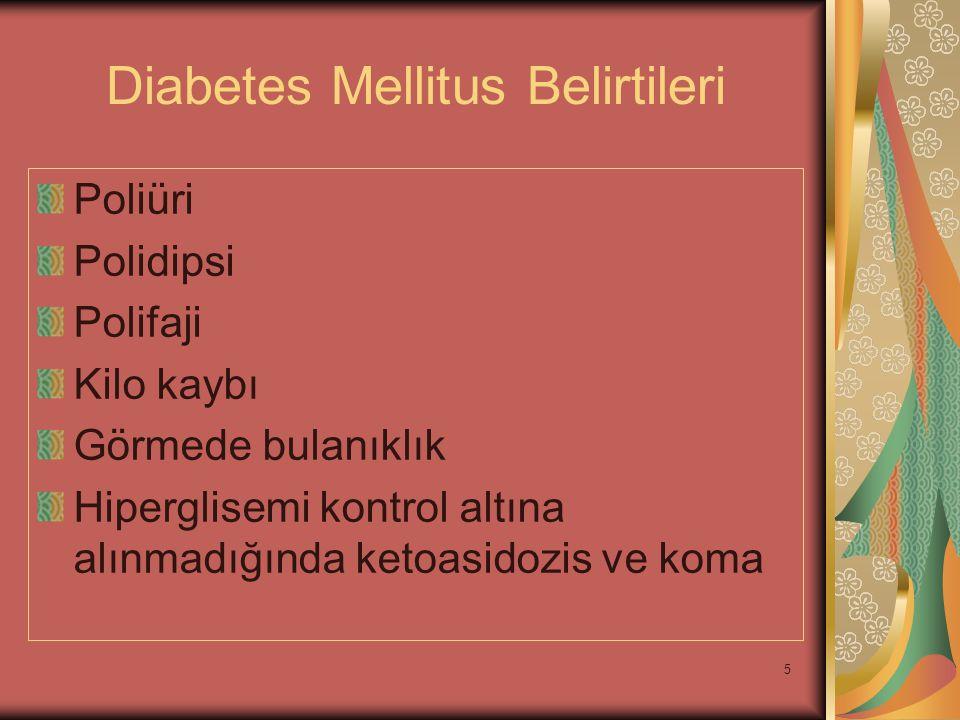 Diabetes Mellitus Belirtileri