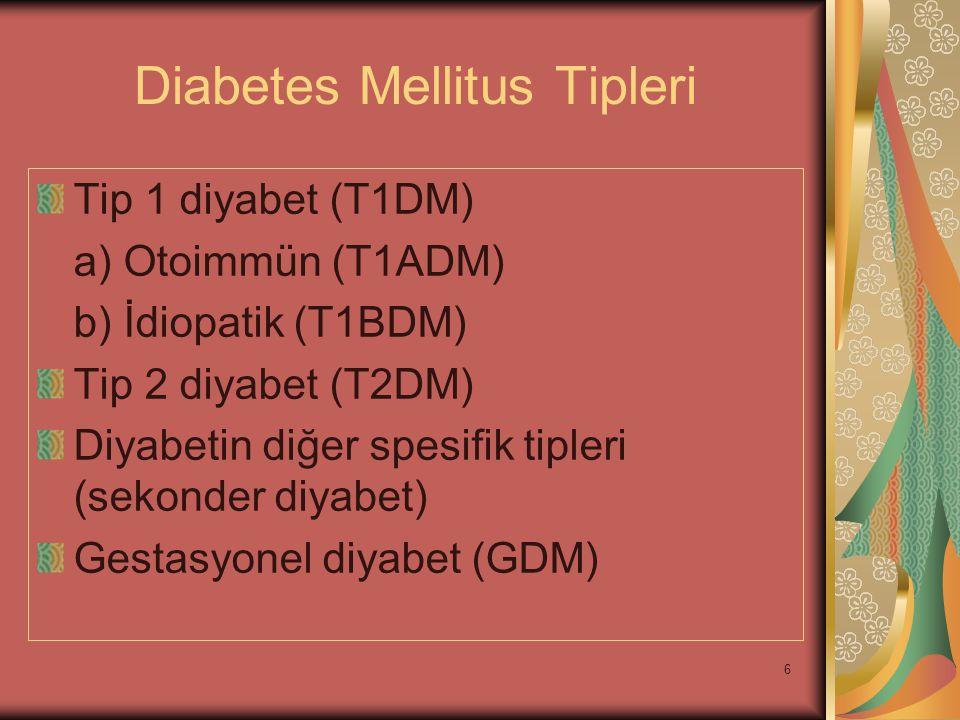 Diabetes Mellitus Tipleri