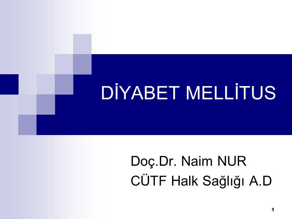 Doç.Dr. Naim NUR CÜTF Halk Sağlığı A.D