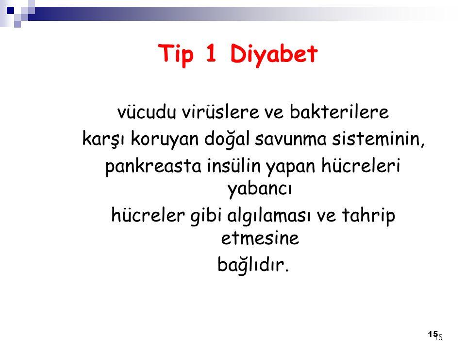 Tip 1 Diyabet vücudu virüslere ve bakterilere