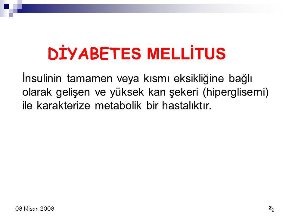 DİYABETES MELLİTUS