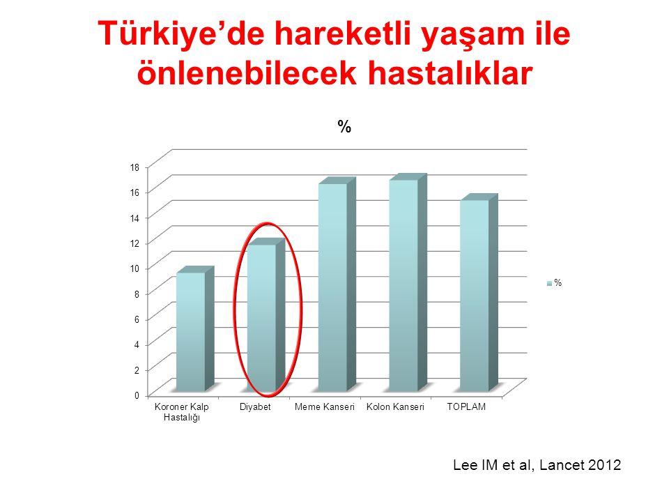 Türkiye'de hareketli yaşam ile önlenebilecek hastalıklar