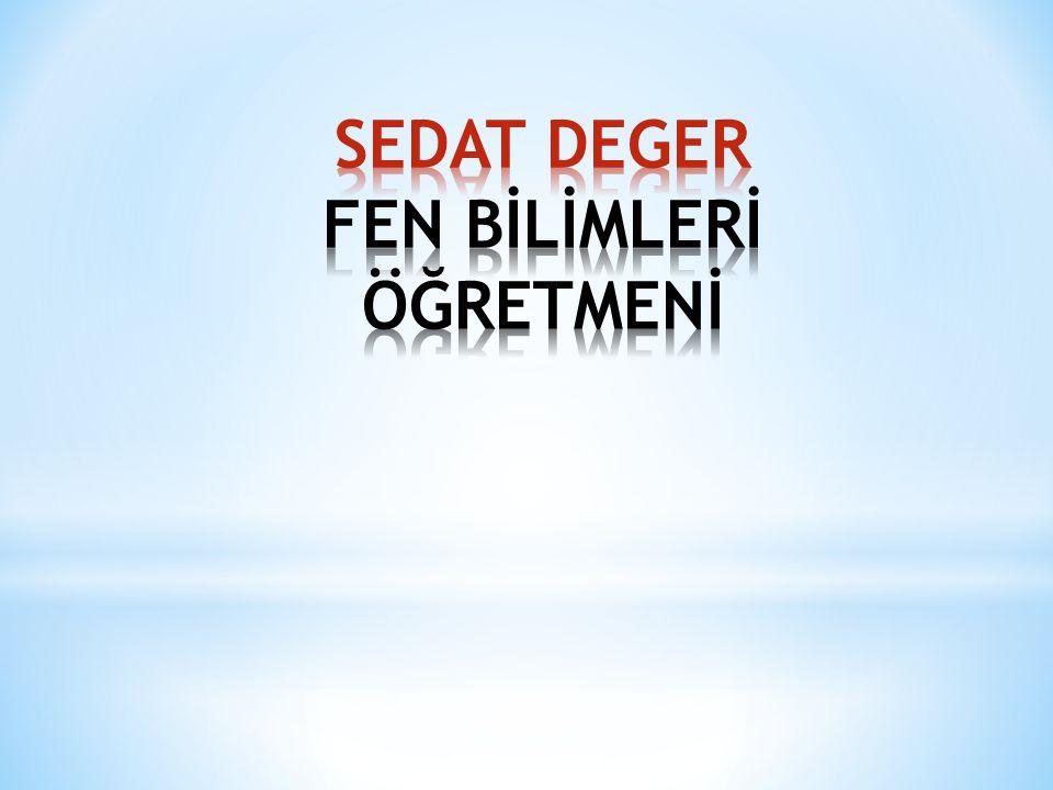 SEDAT DEGER FEN BİLİMLERİ ÖĞRETMENİ