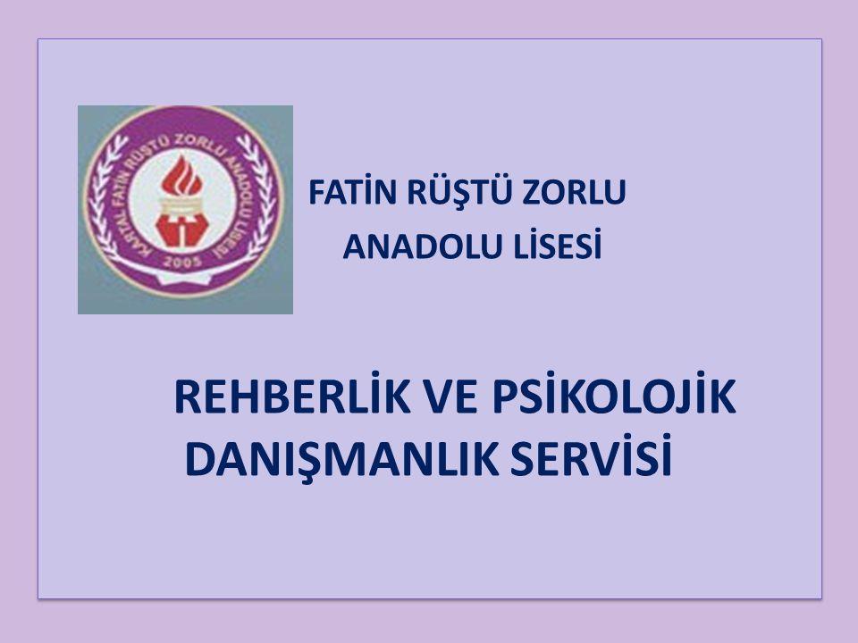 REHBERLİK VE PSİKOLOJİK DANIŞMANLIK SERVİSİ