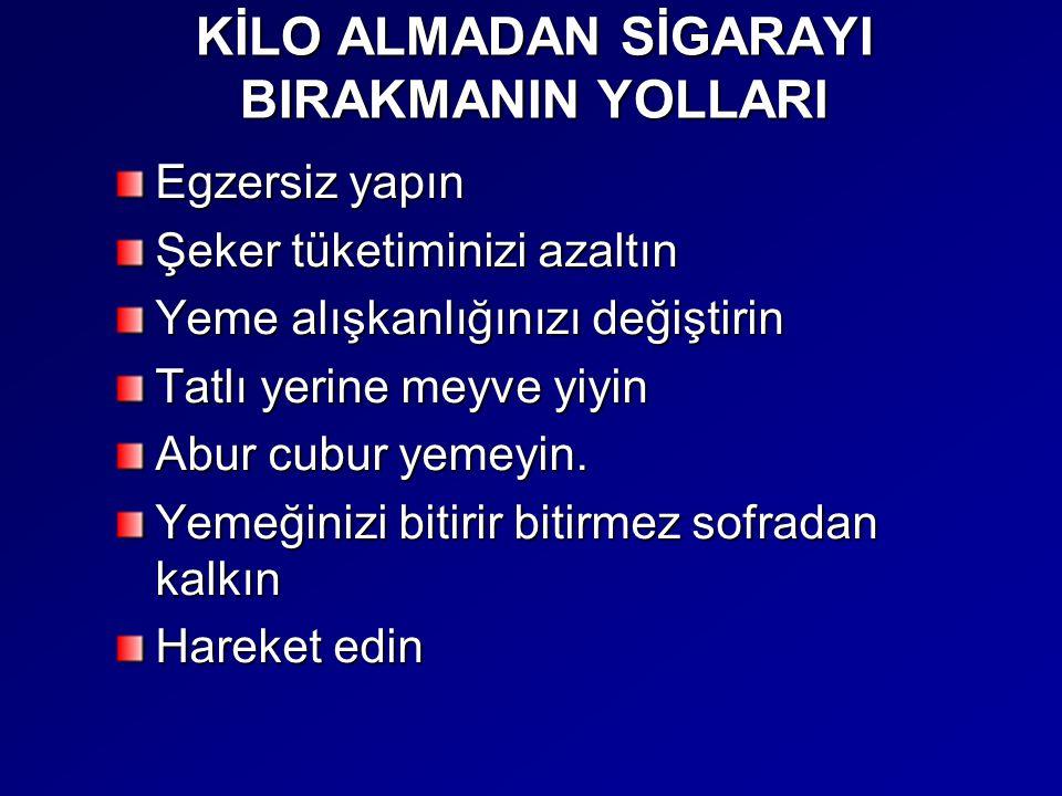 KİLO ALMADAN SİGARAYI BIRAKMANIN YOLLARI