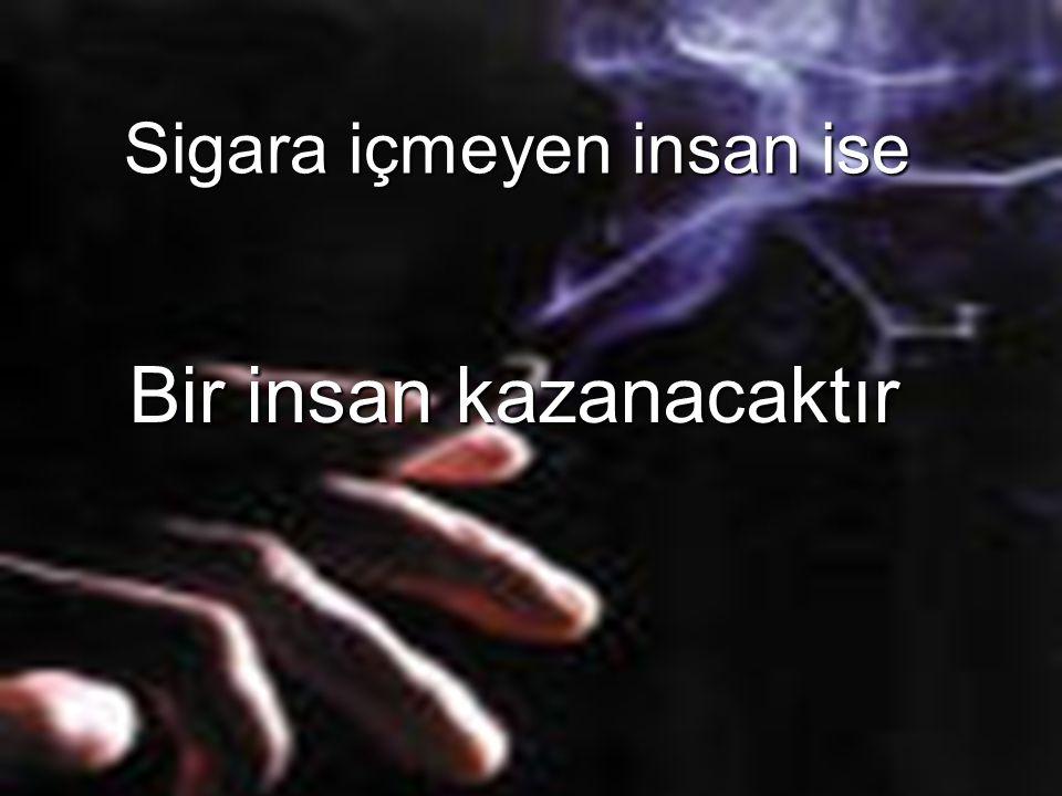 Sigara içmeyen insan ise