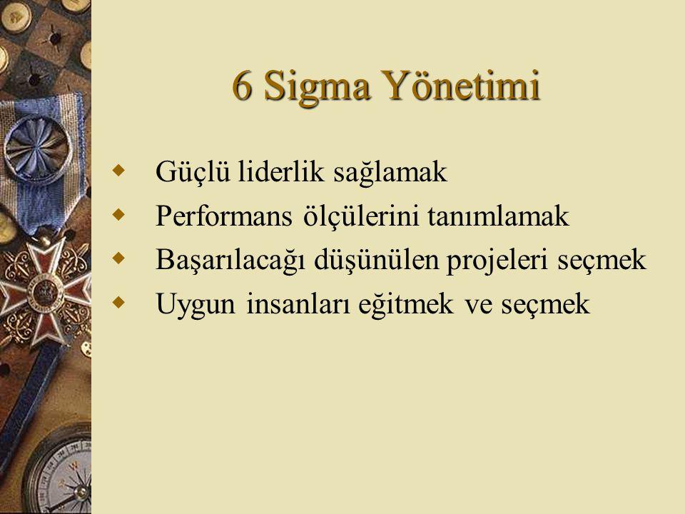 6 Sigma Yönetimi Güçlü liderlik sağlamak