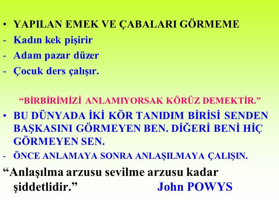 Anlaşılma arzusu sevilme arzusu kadar şiddetlidir. John POWYS